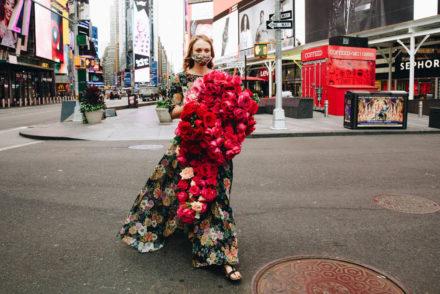 Kristina Libby in Times Square
