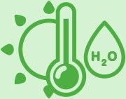 caring for bulbs sun temperature h2o icon
