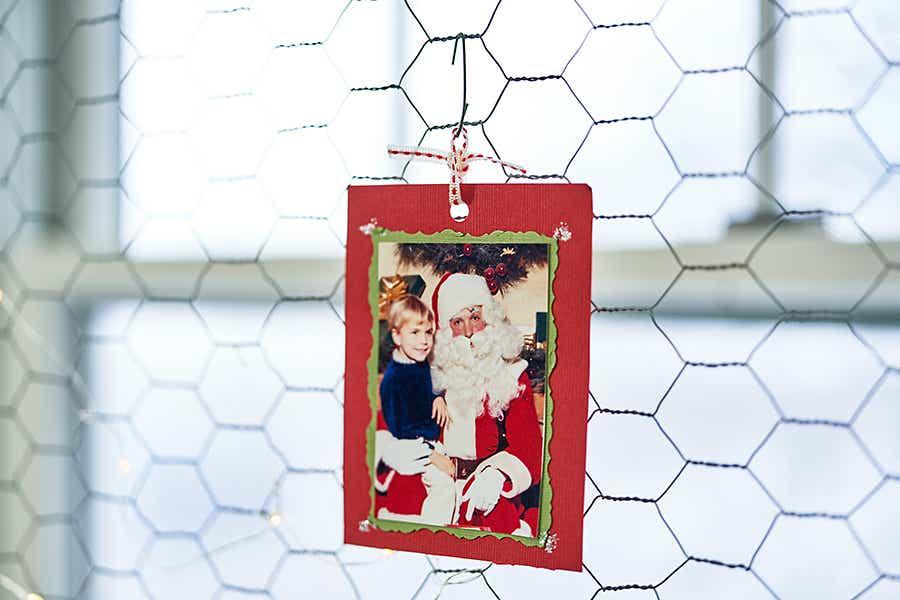 Hanging Christmas card