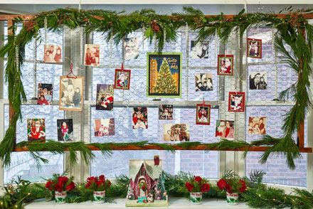 Santa and Me Photo Display
