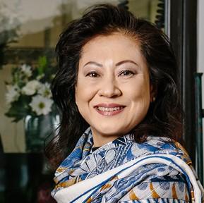 Close-up photo of local florist Vivian Chang