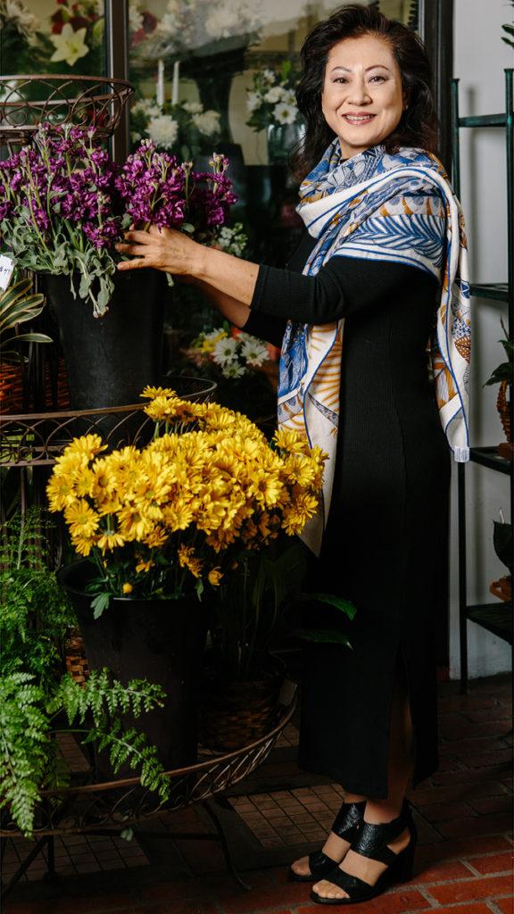Photo of local florist Vivian Chang
