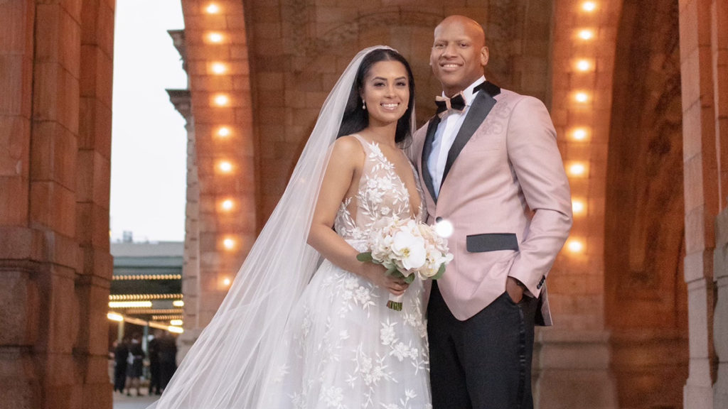 A photo of Michelle and Ryan Shazier on their wedding day.