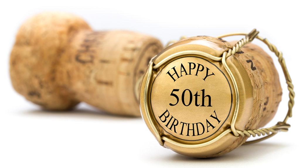 50th birthday champagne cork