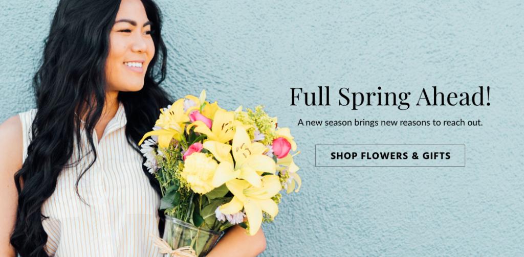 Spring banner ad