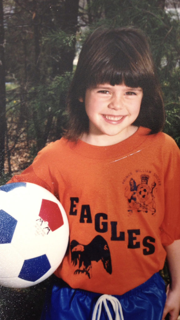 Photo of soccer star Ali Krieger as a child