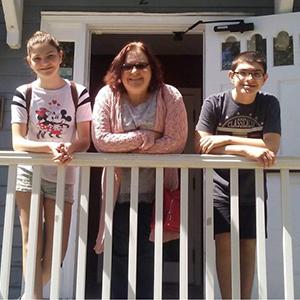 Lisa Meehan and her kids