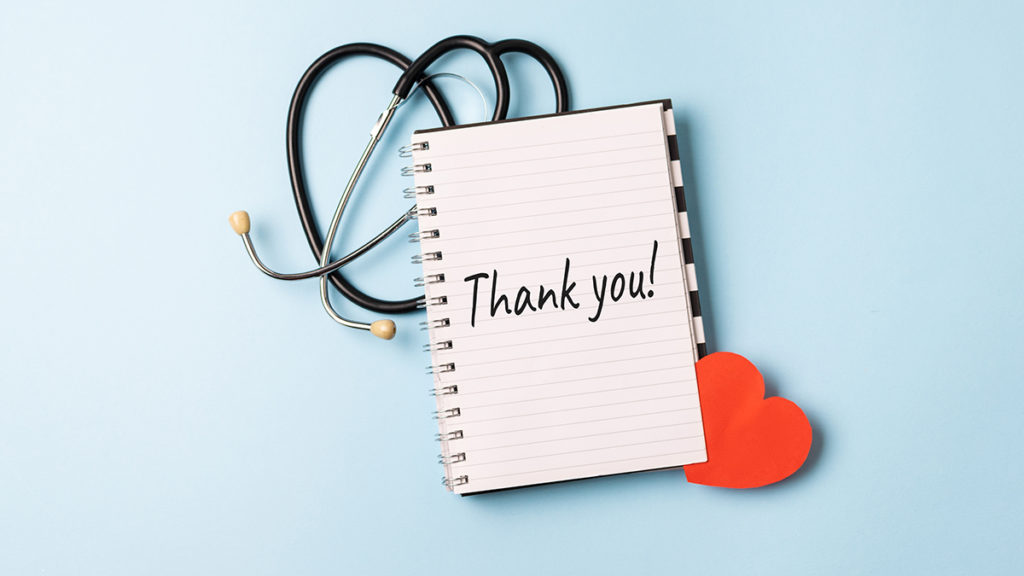 Thank you note for nurses
