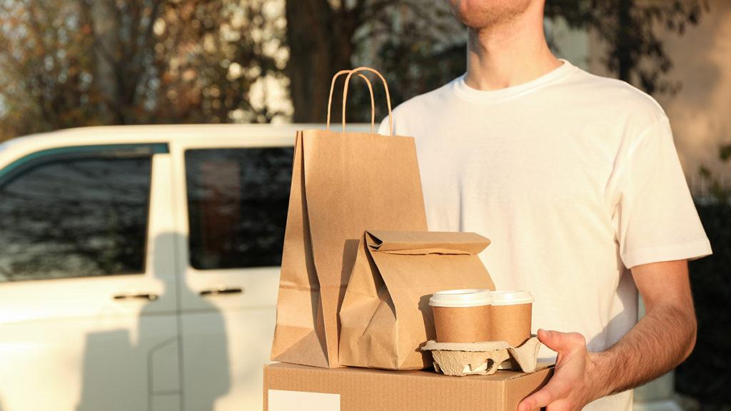 Person delivering food