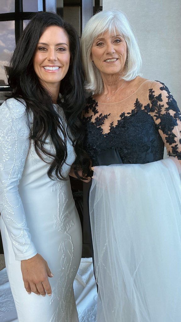 Ali Krieger and her mother