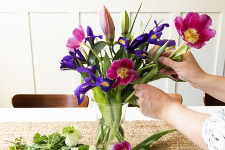 Arranging Flower Bouquet