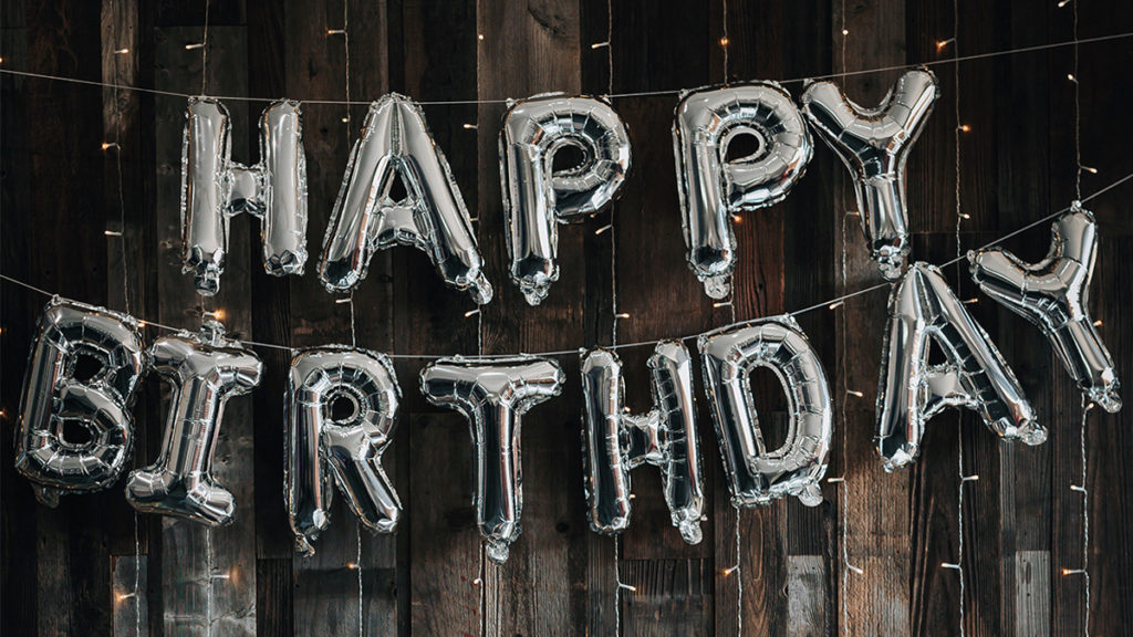 """Happy Birthday"" sign"