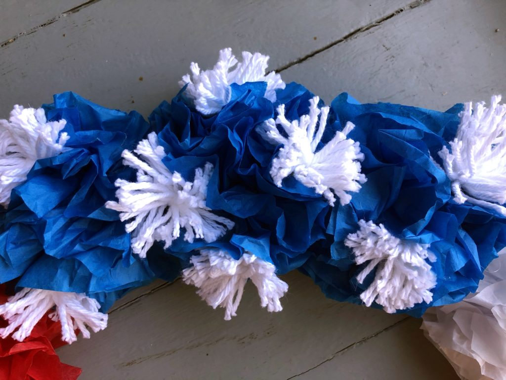 Starbrusts on Memorial Day wreath