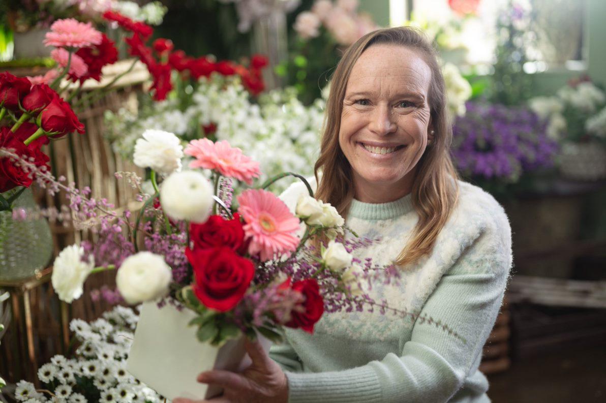 A photo of local florist Patti Fowler