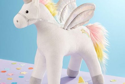 Unicorn plush with cookie