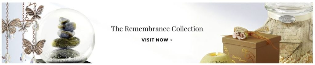 An ad for 1800flowers.com's Remembrance Collection