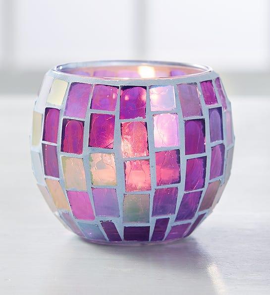 Photo of a flower vase reused as a nightlight holder