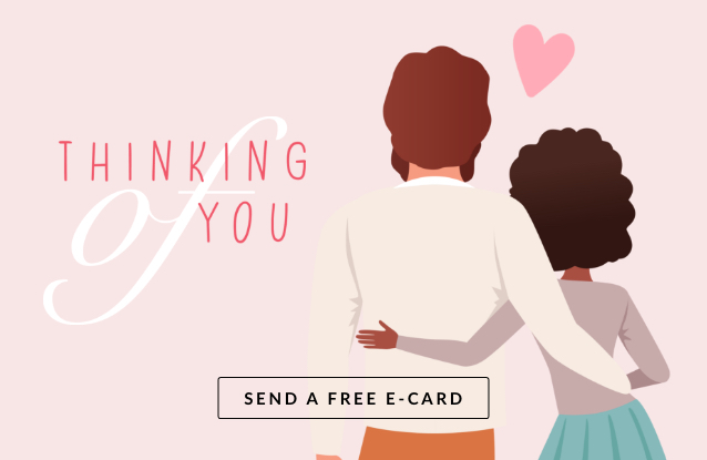 Banner ad for a thinking of you e-card.
