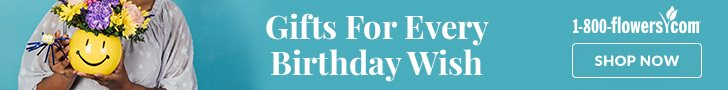 An ad for September birthday gifts