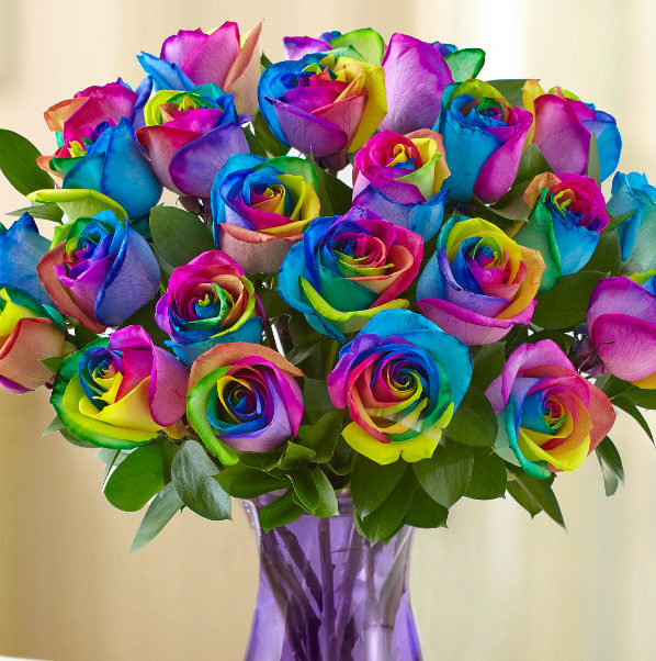 With a bit of every color in their petals, kaleidoscope roses tell your partner that they're simultaneously your best friend and lover, appreciated and respected, and most importantly, unique.