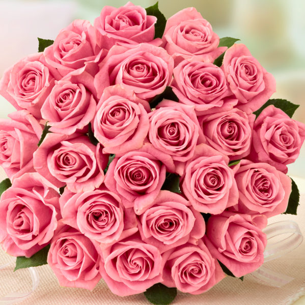 """A bouquet of light pink roses says, """"I appreciate everything you do for me."""" The gentle nature of pale pink roses makes them the perfect gift for mothers, sisters, and close friends."""