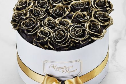 Picture of gold tipped roses for Halloween