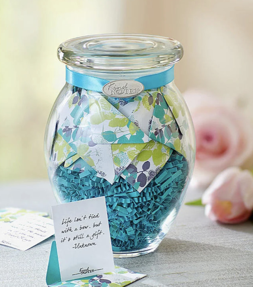 Photo of notes of inspiration jar, a perfect business gift to employees
