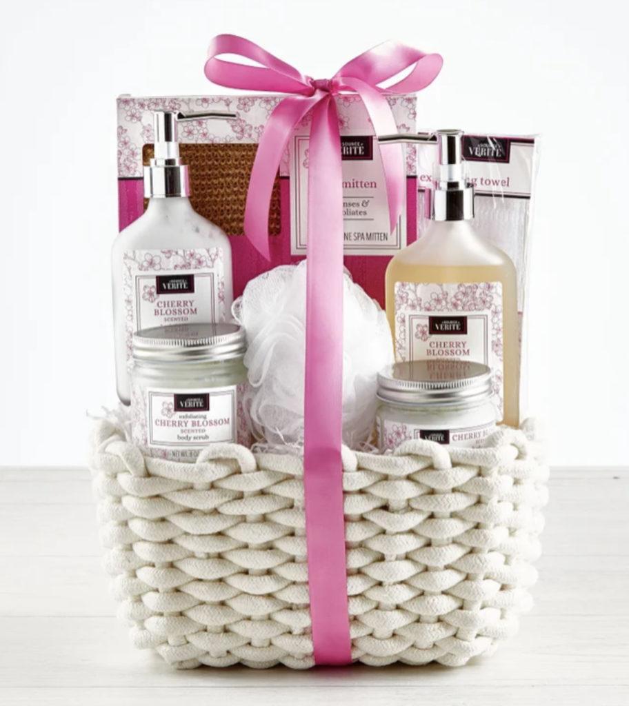 Photo of a cherry blossom spa kit